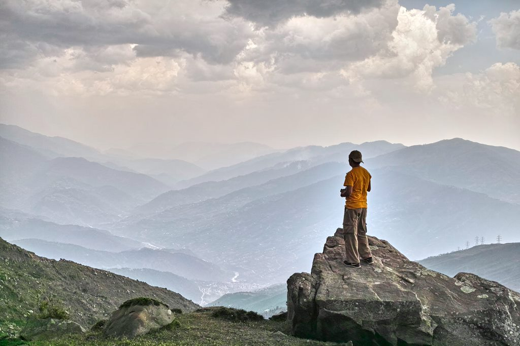 Gazing over Mantalai valley from Chorgala (J&K)
